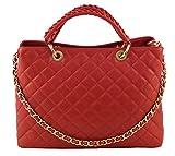 CHIC Tasche Shopper Damentasche Handtasche Handarbeit echt Leder Made in Italy
