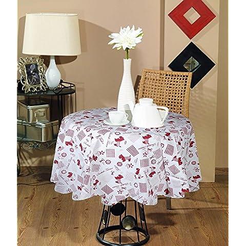 Indian tovaglia stampata rotondo decorativo -100% cotone animale della stampa rotonda tovaglia marrone moderna -dia (Tovagliolo Di Uccello A Mano)
