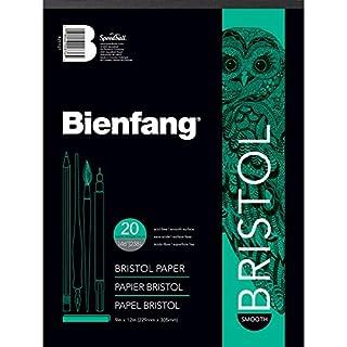 Bienfang Bristol Papier Pad, glatte Oberfläche, weiß, 9 by 12-Inch