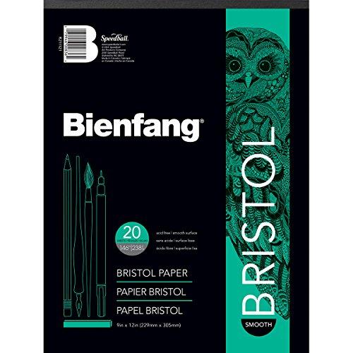 Bienfang Bristol Papier Pad, glatte Oberfläche, weiß, 9 by 12-Inch Bienfang Bristol Board