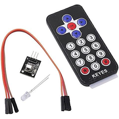 IR Infrarossi Kit Sensore Bordo +Controllo Telecomando Ultrasottili Per Arduino