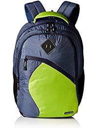 Gear 32 Ltrs Navy Blue and Lime Green Casual Backpack (METLPSPC61103)