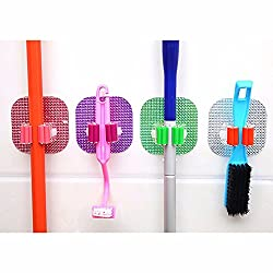 Wall-Mounted Mop Organizer Holder Brush Broom Hanger Storage Rack Kitchen Tool