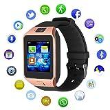 kivors DZ09Bluetooth SmartWatch avecAppareil photo pour montre téléphone SIM Support anti-perte Rappel d'appel Message Carte TF Podomètre pour Smartphone Android