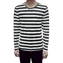Blancas Rayas Negras Camiseta Y Amazon I01Rq