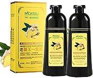 Mokeru Ginger Hair Shampoo Black Color Dye Shampoo 500 ML 2 PCS