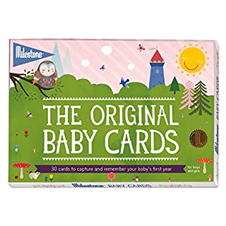 Original Baby Keepsake Cards by Milestone - Newborn's First Year Memories
