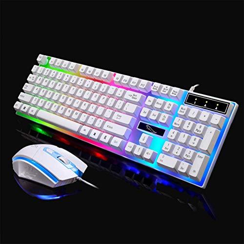 QIAO Kabel - USB - LED Scheinwerfer G21 - Suite Computer Maschinen MIT hintergrundbeleuchtung der Tastatur - Maus - kostüm (Computer Kostüm)