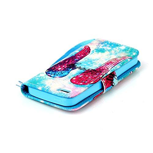 Custodia per iPhone 6 Plus Rosa,TOCASO Farfalla Dandelion Flip Case PU Pelle [Wallet Book Design] per iPhone 6s Plus 5.5 Portafoglio Cover Ultra Sottile Leather Protettivo Cases Covers Shell [Lanyard/ Stylish#17