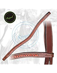 Royal Designer Bright Red linked U-Shaped Crystal Brow Band.