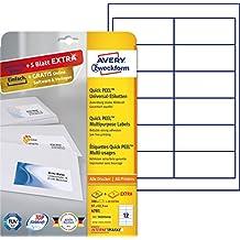 Avery Zweckform 4781 Adressetiketten (A4, 300 Plus 60 Etiketten extra, 97 x 42,3 mm) 30 Blatt, weiß