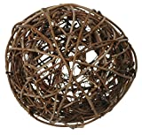 Rattankugeln sortiert, 3 cm, 4 cm, 7 cm, 10 Stück, Dekokugeln Tischdekoration - Braun