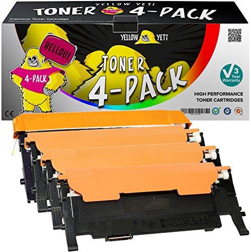 Yellow Yeti 4 Toner compatibili per Samsung CLP-320 CLP-320N CLP-325 CLP-325N CLP-325W CLX-3180FN CLX-3185FN CLX-3185FW CLX-3185W | CLT-P4072C K4072S C4072S M4072S Y4072S [3 Anni di Garanzia]