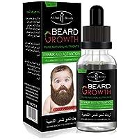 Beard Oil - Delaman Fast Beard Growth Essential Oil Bigote Nutricional Líquido para Hombres Mejorando Los Bigotes Faciales 30ml