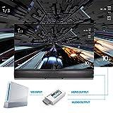 Wii zu HDMI Adapter Konsolen Adapter ,PORTHOLIC Wii Converter HDMI mit Audio über HDMI und extra 3,5mm Buchse für Audioausgang für TV Monitor Beamer Fernseher variable Auflösung von PORTHOLIC