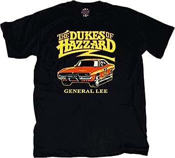 Dukes of Hazzard General Lee T-shirt Black (Small) [Apparel]