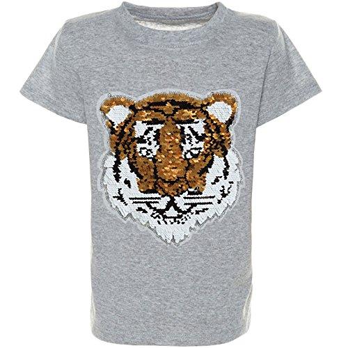 BEZLIT Jungen Wende-Pailletten T-Shirt Kurzarm Sommer Shirt Bluse 21328 Grau Größe 140