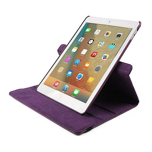 9.7 Zoll Tasche iPad Pro 9.7 , elecfan® hochwertiges PU Leder Etui mit Standfunktion und automatischem Schlaf Funktion, super 360° Anti Wrestling, ist für Apple iPad Pro 9.7 Tablet PC Perfektgeeignet  Lila