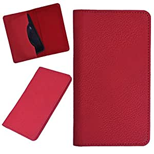 DCR Pu Leather case cover for Spice Smart Flo Mettle 3.5X 356 (RED)