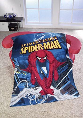 cedecke Kuscheldecke - The Amazing Spiderman - 100% Polyester - 130 x 170 cm (Comic Spiderman Kostüm)
