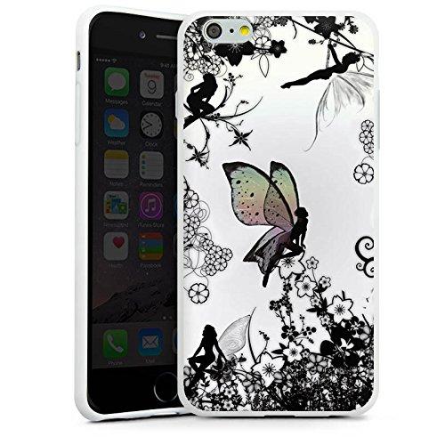 Apple iPhone SE Silikon Hülle Case Schutzhülle Elfe Fee Schmetterling Silikon Case weiß