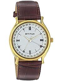 Titan Men's Contemporary Work Wear Mineral Crystal, Quartz, Analog, Water Resistant Wrist Watch