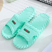 fankou Slippers Male Summer Stay Cool with a Couple of Indoor Slippers Thick Plastic Bath Anti-Slip Bath Slippers Female Soft Bottom,35-36,A- Light Green.