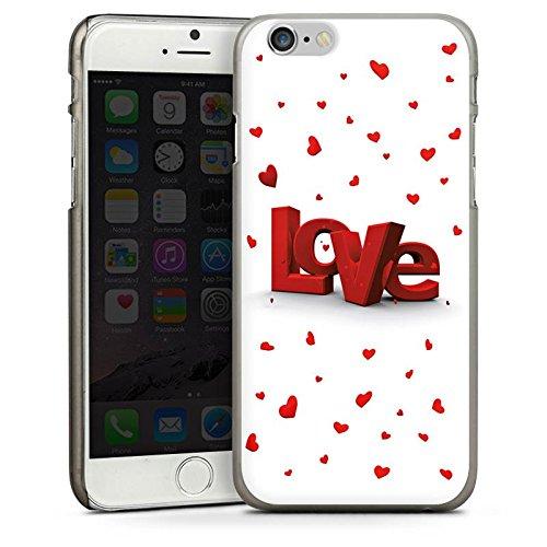 Apple iPhone 5s Housse Étui Protection Coque Amour Motif vue 3D Petit c½ur CasDur anthracite clair