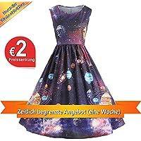Sasstaids Hei/ßer Baby KleidKinder Kinder M/ädchen Kurzarm Blumendruck L/ässig Mit Tasche Maxikleid