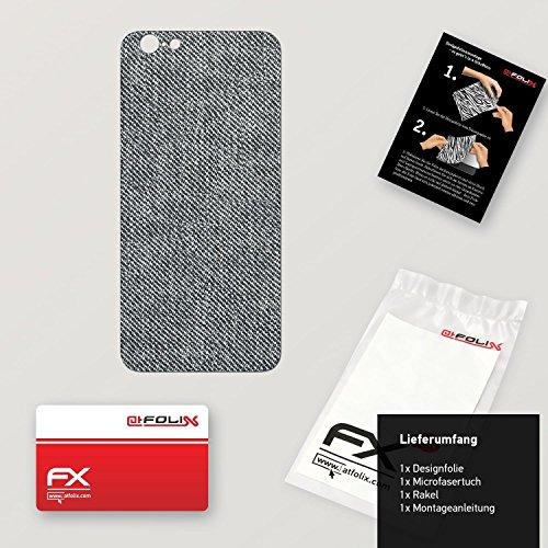 """Skin Apple iPhone 6 """"FX-Carbon-Red"""" Designfolie Sticker FX-Denim-Grey"""
