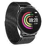 UMIDIGI Damen Herren Bluetooth Smartwatch Sportuhr Intelligente Armbanduhr Fitness Uhr Fitness Tracker mit Schrittzähler Schlaftracker Kompatibel mit Android Smartphone und iPhone - Milanese Black