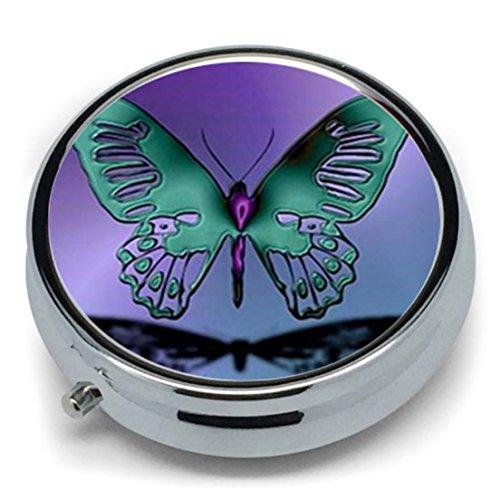 Cyberlee Pastillero Metal Redondo diseño Mariposas