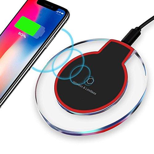 ULTRICS® Wireless Ladegerät, tragbare Premium-Qualität Ultra Slim Qi aktiviert Slip-proof Ladekabel für Samsung S7 EDGE S6 Note6 Hinweis 5 Nexus & alle anderen Drahtloses Ladegeräte kompatible Geräte.