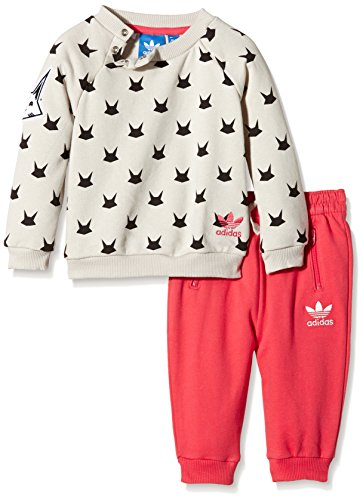 adidas Baby Trainingsanzug Magic Forest French Terry, Mist Stone F15-St, 104, AB1794