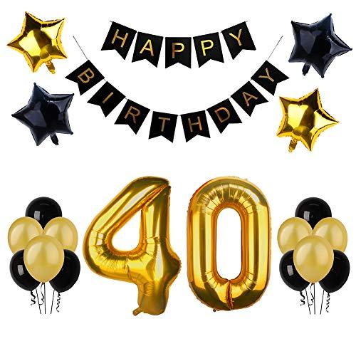 40. Geburtstag Party Dekoration, Happy Birthday Banner,