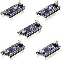 Anpro 5 Stück Nano Plus Entwicklerboard mit CH340 Chip Atmega328P für Arduino