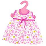 #10: Generic Pink Foral Skirt Dress for 18inch American Girl Our Generation AG Journey Doll