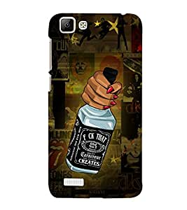 Fuson Designer Back Case Cover for Vivo V1 ( Love Quotes Inspiration Emotion Care Fun Funny )
