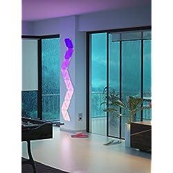 nanoleaf Light Panels Erweiterungspack - 1 zusätzliches modulares LED Panel - Starterkit wird benötigt [16 Millionen Farben | Plug and Play | iOS (Apple Home Kit kompatibel) & Android] [Energieklasse A] - NL20-0001TW [Energieklasse A] [Energieklasse A]