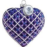 """FindingKing corazón púrpura 3,5""""LED Adorno de Cristal"""