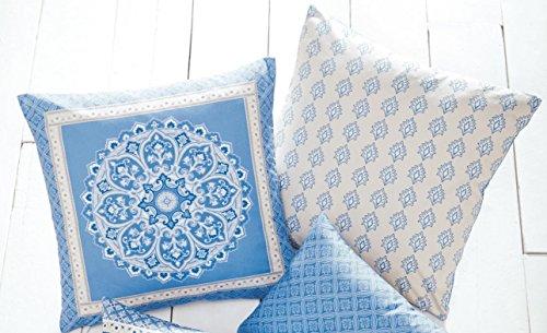 "Blue Filled Cushion 43 cm x 43 cm (17"" x 17"") Approx"