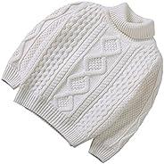 XINNE Niñas Y Niños Suéter De Punto Vintage Cuello Jersey Unisex Bebé Otoño Invierno Espesado Prendas De Punto