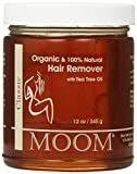 Moom Certified Organic Hair Remover with tea Tree Refill Jar 12 oz
