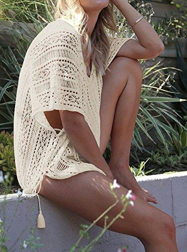 Garsumiss Damen Strandponcho Sommer Kaftan Strandkleid Badeanzug Bikini  Spitze Crochet Cover up. GA601060303. GA601060303. GA601060303. GA601060303 5f558424e8