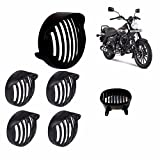 #9: AllExtreme Cap Combo For Bajaj Avenger Cap Headlight Grill, Cap Indicator Set, Tail/Back Light Grill