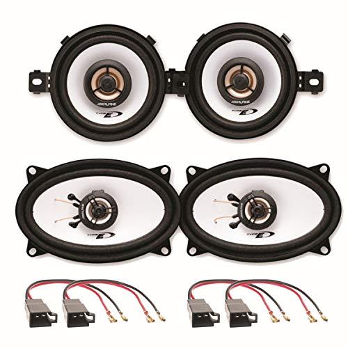 Alpine SXE-0825S und SXE-4625S 2 Wege Koaxial Lautsprechersysteme Armaturenbrett seitliche Heckablage für Polo 86C Golf 2