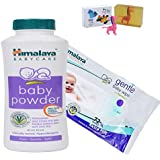Himalaya Herbals Baby Powder (200g)+Himalaya Herbals Gentle Baby Wipes (72 Sheets) With Happy Baby Luxurious Kids Soap With Toy (100gm)