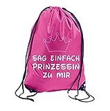 TRVPPY Turnbeutel mit Spruch / Modell PRINZESSIN / in versch. Farben / Beutel Rucksack Jutebeutel Sportbeutel Fashion Hipster