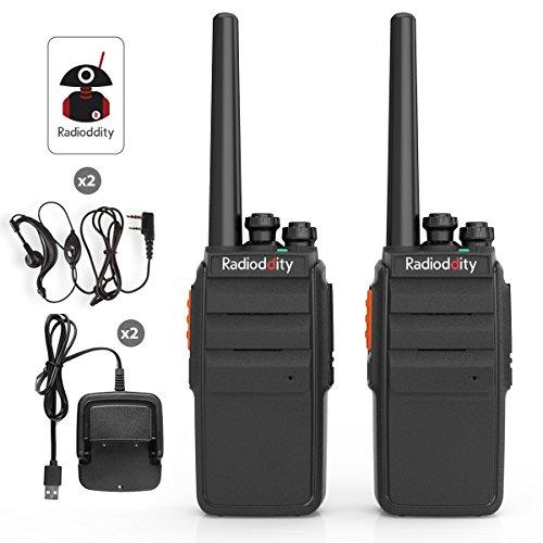 2x Radioddity R2 UHF Funkgerät Ham Radio VOX Scrambler Funktion 16 Kanäle Walkie Talkie USB Ladeschale mit Kopfhörer, - Ham-radio-lautsprecher
