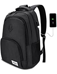 AUGUR Laptop Rucksack 12-16 Zoll (9 Farben),Business Rucksack Schulrucksack Daypack Reiserucksack mit USB-Ladeanschluss, Wasserdichte Rucksack Unisex für Arbeit Schule